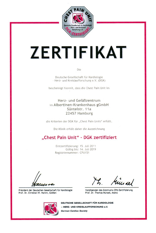 Zertifikat CPU